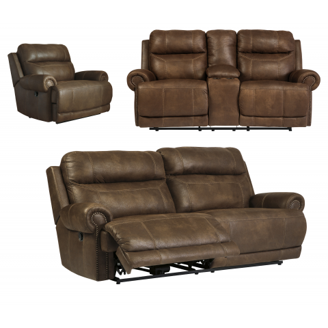 Austere - 3pc Reclining Living Room Set