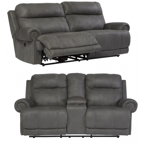 Austere - 2pc Power Reclining Living Room Set