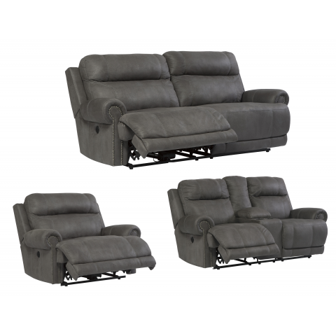 Austere - 3pc Power Reclining Living Room Set