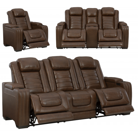 Backtrack - 3pc Massage Power Reclining Living Room Set