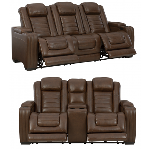 Backtrack - 2pc Massage Power Reclining Living Room Set