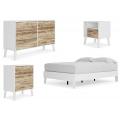 Piperton - 4pc Full Panel Platform Bed Set