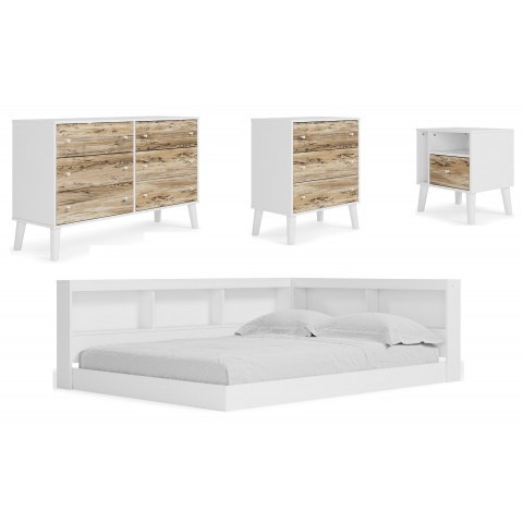 Piperton - 4pc Full Bookcase Storage Bed Set