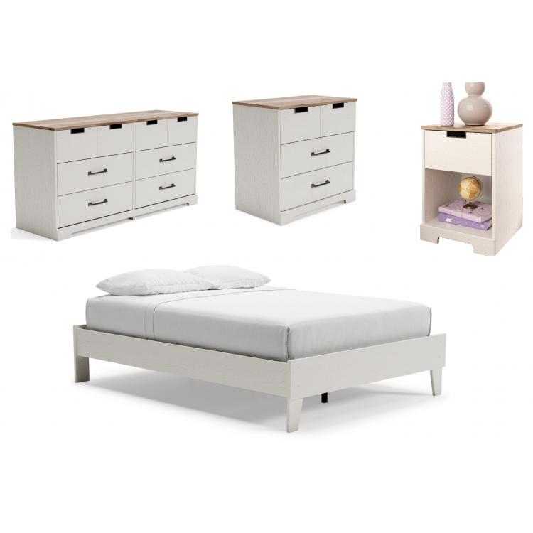 Piperton - 4pc Full Platform Bed Set