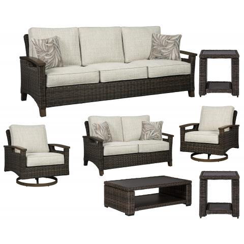 Paradise Trail - 7pc Outdoor Seating Set