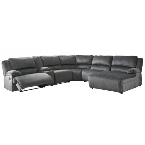 Clonmel - 6pc Reclining Sectional with Chaise