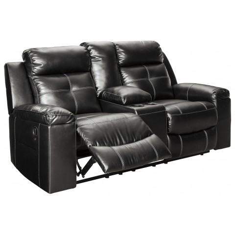 Kempten - Reclining Loveseat with Console