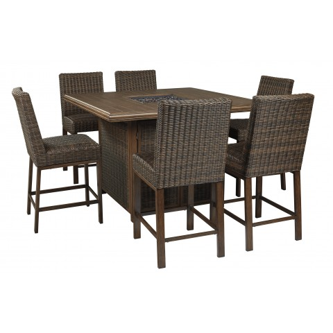 Paradise Trail - 7pc Outdoor Square Table Set