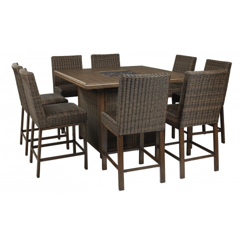Paradise Trail - 9pc Outdoor Square Table Set