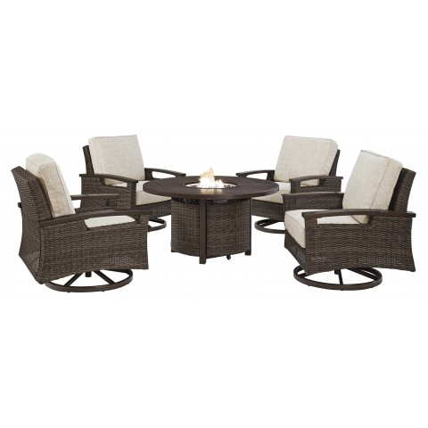 Paradise Trail - 5pc Outdoor Set (Table + 4 Chairs)