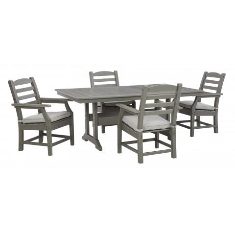 Visola - 5pc Outdoor Rectangular Table Set